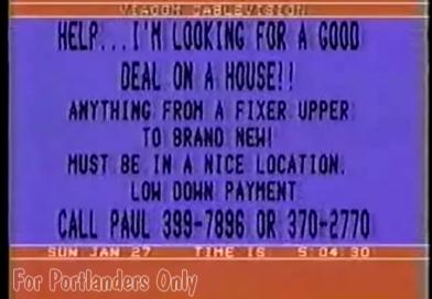 Salem Teletext Channel — 1-27-1985